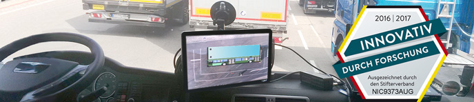 High bright RuggedLight15FHD display during truck testing